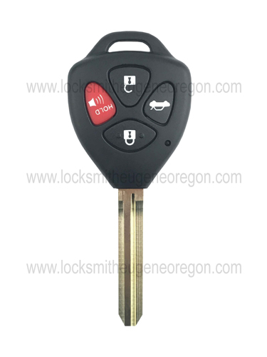 2001 - 2017 Toyota Remote Head Key
