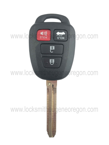 2012 - 2017 Toyota Remote Head Key