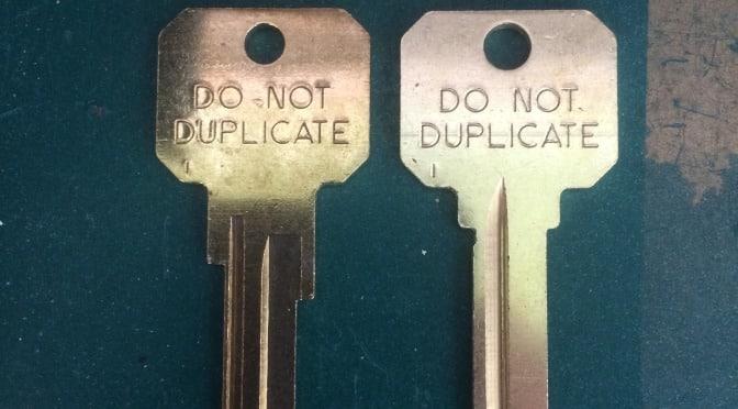 Do Not Duplicate Keys Policy