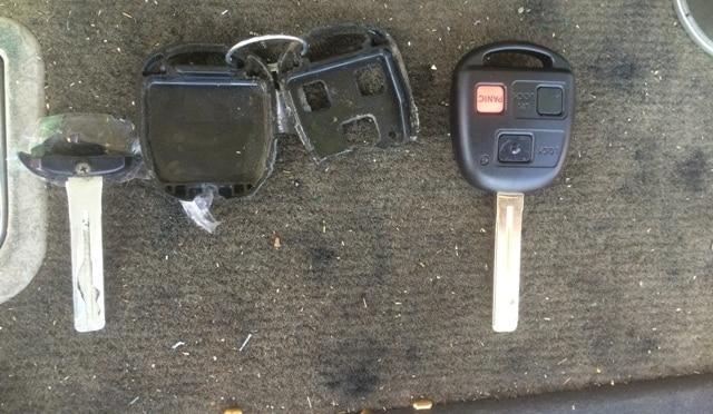 Broken Lexus & Honda Remote Head Key Shells
