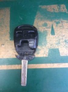 empty broken lexus remote head key shell